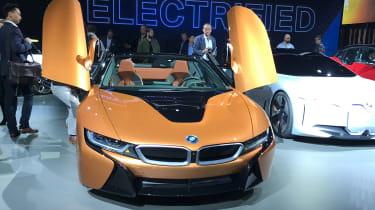 BMW i8 Roadster LA show pics front
