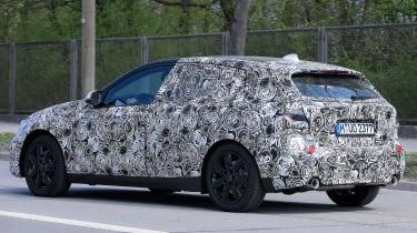 2019 BMW 1 Series spy shot rear quarter
