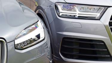 Volvo XC90 and Audi Q7 lights