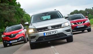 VW Tiguan vs Renault Kadjar vs Nissan Qashqai - header