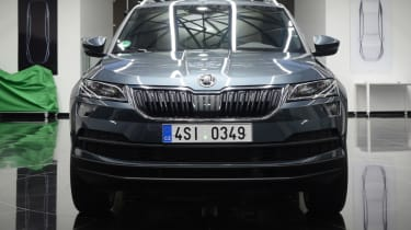 Skoda Karoq head on
