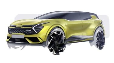 Kia Sportage sketch - yellow front