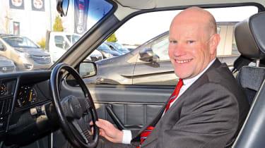 Vauxhall Astra - Simon Railton inside