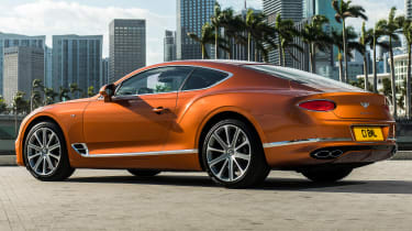 Bentley Continental GT V8 - coupe rear 3/4 static