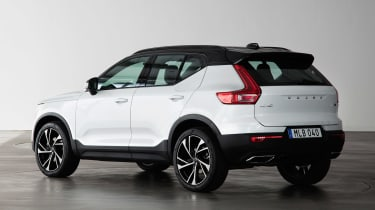 Volvo XC40 - Crystal White rear