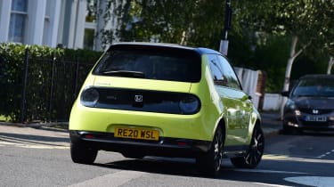 Honda e long termer first report rear action