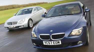 Mercedes CLS and BMW 6-Series