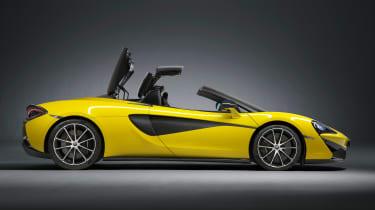 McLaren 570S Spider - side roof closing