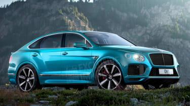 Bentley Bentayga coupe SUV - rendering