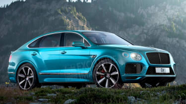 Bentley Bentayga coupe SUV - rendering