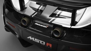McLaren MSO R exhausts