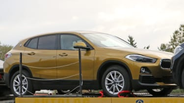 BMW X2 spy shot - front quarter