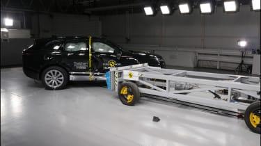 Safest cars on sale in the UK: Range Rover Velar Euro NCAP side impact action