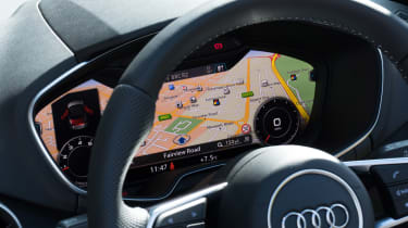 The dials and sat-nav are all displayed easily in front of the driver.