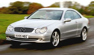 Side view of Mercedes-Benz CLK