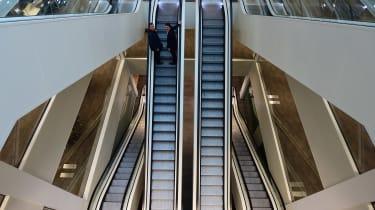 Jaguar Land Rover visit - escalators