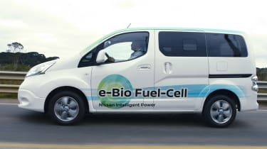 Nissan e-Bio Fuel Cell prototype vehicle side