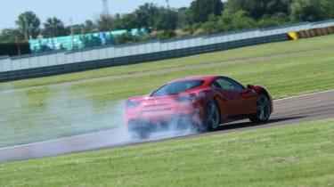 Ferrari 488 GTB smoking