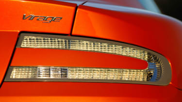 The Virage gets a strip of LED inside the headlight for daytime-running lights.