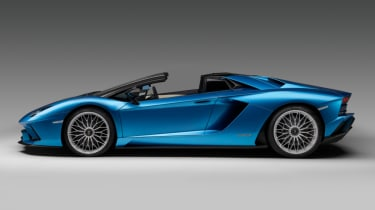 Lamborghini Aventador S Roadster - side - roof down