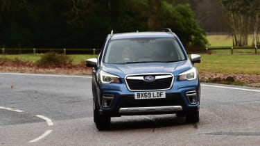 Subaru Forester 2020 in-depth review - front tracking cornering