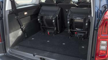 Berlingo rear seats folded