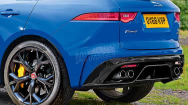 Jaguar F-Pace SVR - rear detail (watermarked)