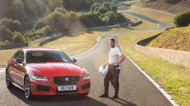 Jaguar XE on track at Cleremont Ferrand