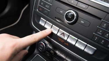 Mercedes A200d centre console