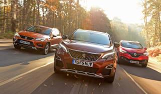 Peugeot 3008 vs SEAT Ateca vs Renault Kadjar - head-to-head