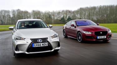 Lexus IS vs Jaguar XE - head-to-head