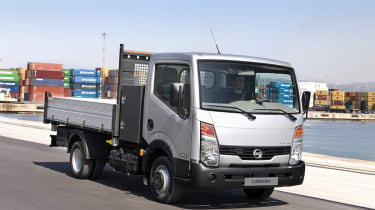 The Cabstar will be equipped with Nissan's Euro 5 engines, which produce 8 per cent less CO2 than the previous Euro 4 engines.