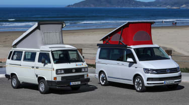 VW California roof up