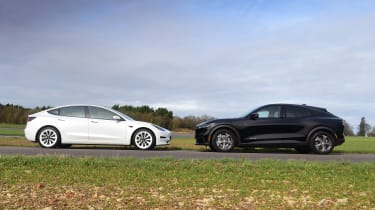 Ford Mustang Mach-E vs Tesla Model 3