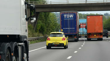 Tailgating feature Suzuki swift sport motorway driving