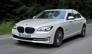 BMW 750i front action