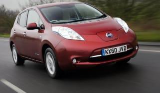 Nissan Leaf front track