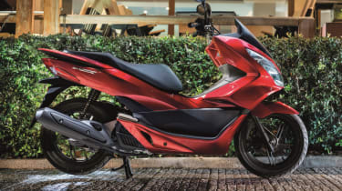 Honda PCX 125 review - red side profile