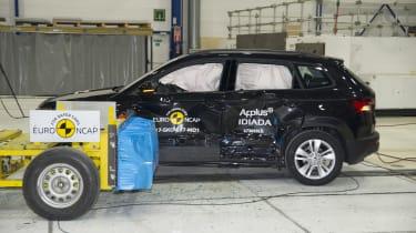 Skoda Karoq - Side crash test - after crash