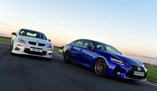 Lexus GS F vs Vauxhall VXR8 GTS - header