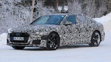 2018 Audi A6 spy shot front quarter