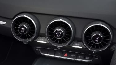 The vents from the coupe carry over with their clever design.