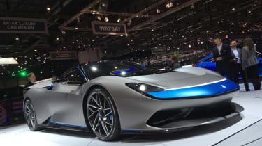 Pininfarina Battista at Geneva Motor Show 2019 grey