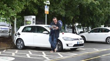 Long-term test - VW e-golf - parked