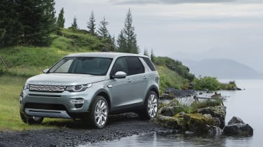 Land Rover Discovery Sport static lake