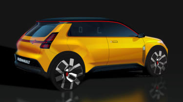 Renault 5 EV concept - rear sketch