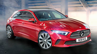 Mercedes A-Class - front red (watermarked)