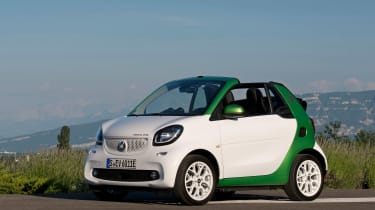 Smart ForTwo Electric Drive Cabrio - front static