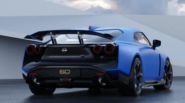 Nissan GT-R50 by Italdesign - blue rear 3/4 static