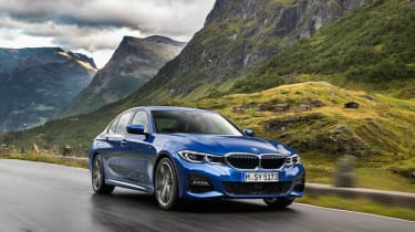 BMW 3 Series - blue front action